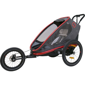 Hamax Outback One Remorque vélo, red/charcoal